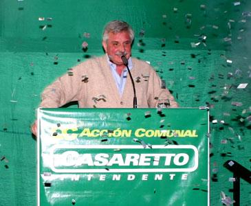 Casaretto llevó sus propuestas a Pacheco y a Ricardo Rojas