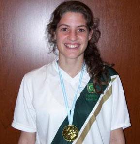 Celina Valiño, en salto en alto, dio otro oro a San Isidro