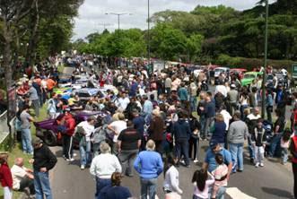 El gran encuentro del TC fue una fiesta popular en San Isidro
