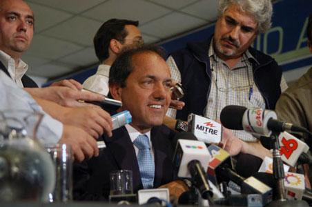 El gobernador electo de la provincia de Buenos Aires, Daniel Scioli