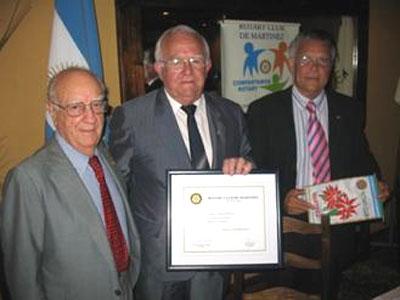 Distinciones del Rotary club de Martínez.