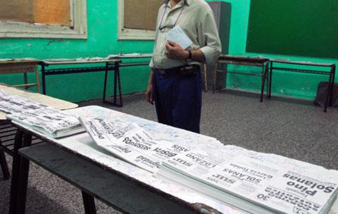 Denuncian ante la Justicia Electoral el robo de boletas