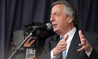 El presidente Néstor Kirchner