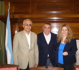 Jorge Arias, Juilo Zamora y mónica Neffke en al UTN de Pacheco