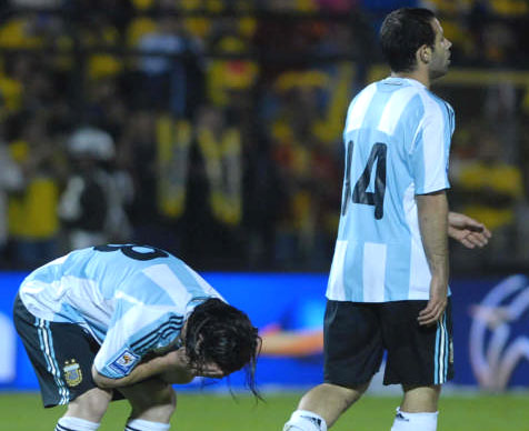 Argentina pierde el invicto ante Colombia en Bogota.