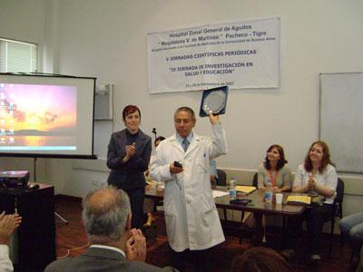 Se realizaron las V jornadas científicas periódicas en el hospital de Pacheco.