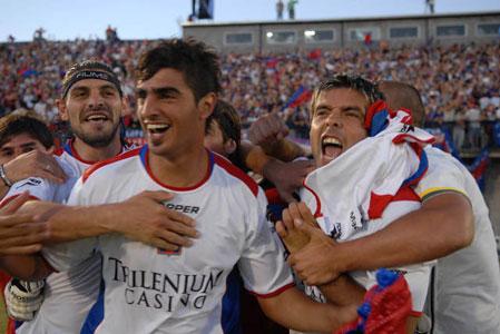 Los jugadores de Tigre festejan el triunfo nte Boca