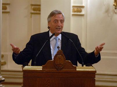 Amplia concurrencia de intendentes en un acto con Kirchner