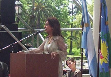 Cristina Fenández en la asunción de sergio Massa