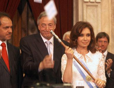 Cristina Fernández asumió como presidenta de los argentinos