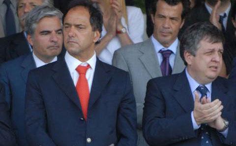 El Gobernador Scioli junto al Ministro de seguridad Carlos Stornelli