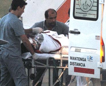 Mariana de Melo gravemente herida al chocar contra una cosechadora.