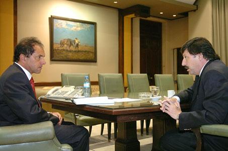 Daniel Scioli se reunió con el intendente de san isidro