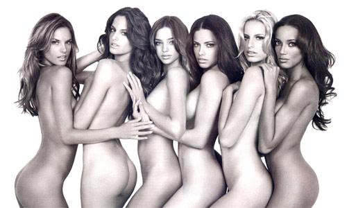 Ángeles de Victoria´s Secret posan desnudas.