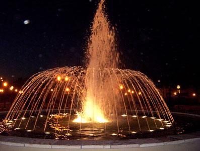 fuente de la flamante plaza de El Talar