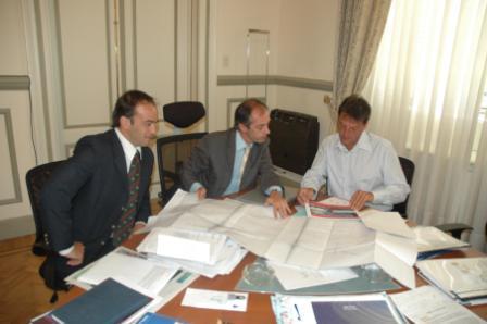 El Intendente Municipal, Sergio Massa, recibió al Secretario de Deportes de la Nación, Claudio Morresi