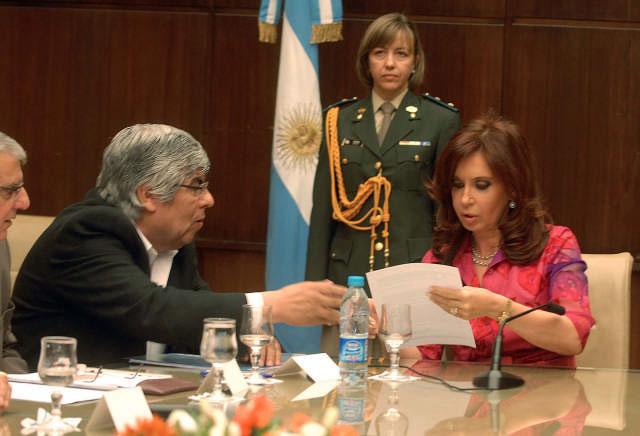 La presidenta Cristina Fernández de Kirchner recibió hoy en Casa de Gobierno al Consejo Directivo de la CGT