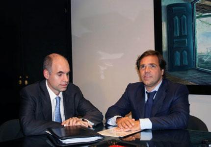 El jefe de Gabinete del Gobierno de la ciudad, Horacio Rodríguez Larreta y su par de la provincia de Buenos Aires, Alberto Pérez
