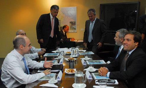 El jefe de gabinete bonaerense, Alberto Pérez, y su par porteño, Horacio Rodríguez Larreta, se reunieron con el titular del Ceamse, Raúl de Elizalde
