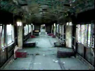 Interior del Tren Cartonero del ramal Retiro - Tigre