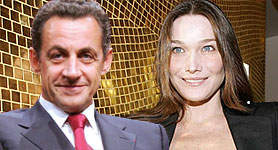 Nicolas Sarkozy y Carla Bruni ya son marido y mujer