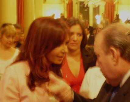 Amieiro compartió con Cristina Kirchner las experiencias que se vienen realizando en San Fernando