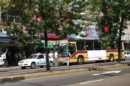 Riguroso control del transporte colectivo en San Isidro