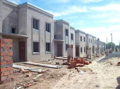 Viviendas en construcción en La Cava Chica
