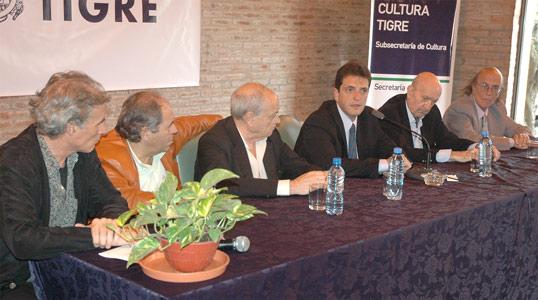 El intendente Sergio Massa firmó un convenio con SADAIC para la presentación de espectáculos artísticos en las distintas localidades del partido