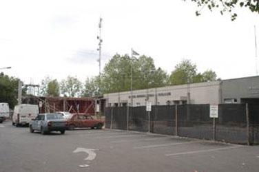 Vista de las obras de ampliación del Hospital Municipal Ciudad de Boulogne