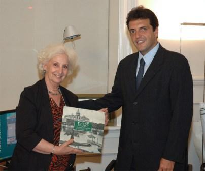 El Intendente Sergio Massa recibió a Estela de Carlotto