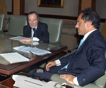 Scioli se reúne con Enrique Garcia por obras en Vicente López