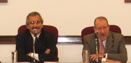 El presidente del HCD de San Fernando Diego Herrera junto al Intendente Osvaldo Amieiro