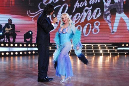 Cicciolina debutó en Bailando por un Sueño