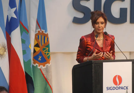 Cristina reclama sanciones civiles y penales por los incendios