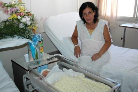 Galo Benjamín Ciganda, el séptimo hijo varón de María Alejandra Muñoz y Marcelo Ciganda