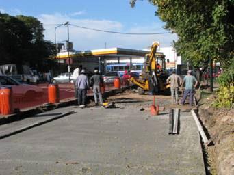 Se iniciaron los trabajos de ensanche y repavimentación de Sucre, entre Rolón y Panamericana