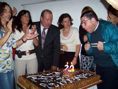 El Intendente de San Fernando, Osvaldo Amieiro, encabezó el acto de celebración por el 20° Aniversario del Centro de Día para Adultos Ciegos y Disminuidos Visuales de San Fernando.