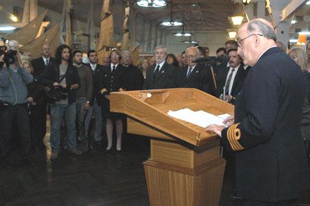 Director del Museo, Capitán de Navío (R.) Horacio Molina Pico