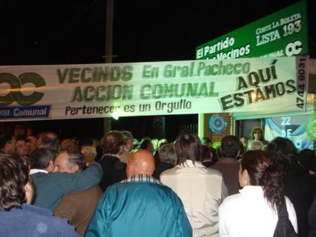 Acción Comunal inauguró dos nuevos locales partidarios