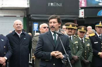 El intendente Posse hablando en la ceremonia