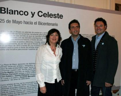 El intendente de Tigre Sergio Massa inauguró hoy la muestra colectiva Blanco y Celeste: 25 de Mayo hacia el Bicentenario  en el Museo de Arte Tigre