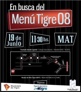 Concurso En busca del menú Tigre 2008