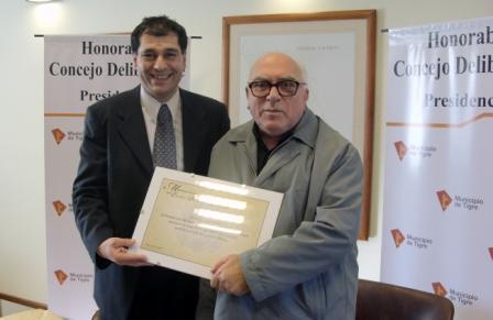 Reconocimiento al Padre Edel Torrielli en el HCD de Tigre