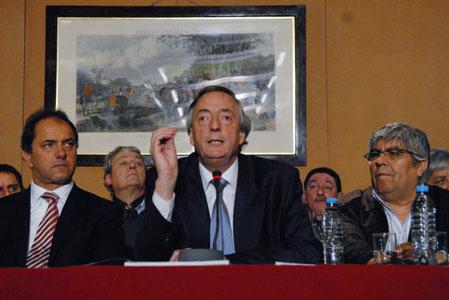 El titular del PJ, Néstor Kirchner