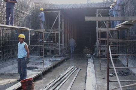 Notable avance de las obras del aliviador Pavón