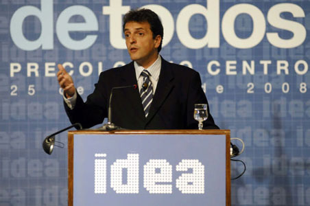 El intendente de Tigre, Sergio Massa