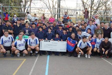 Comerciantes y jugadores de Tigre a beneficio de los bomberos de Ricardo Rojas