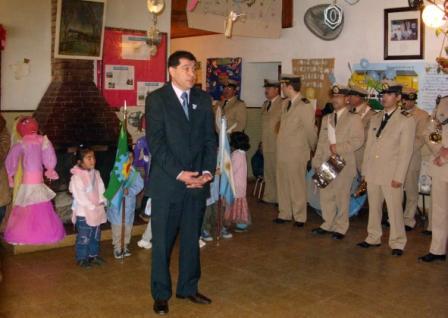 Celebración del Día de la Independencia en la Escuela Nº 17 de Islas
