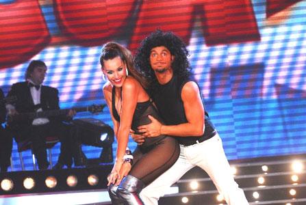 Pampita y su pareja realizaron una de sus mejores performances en el certamen.